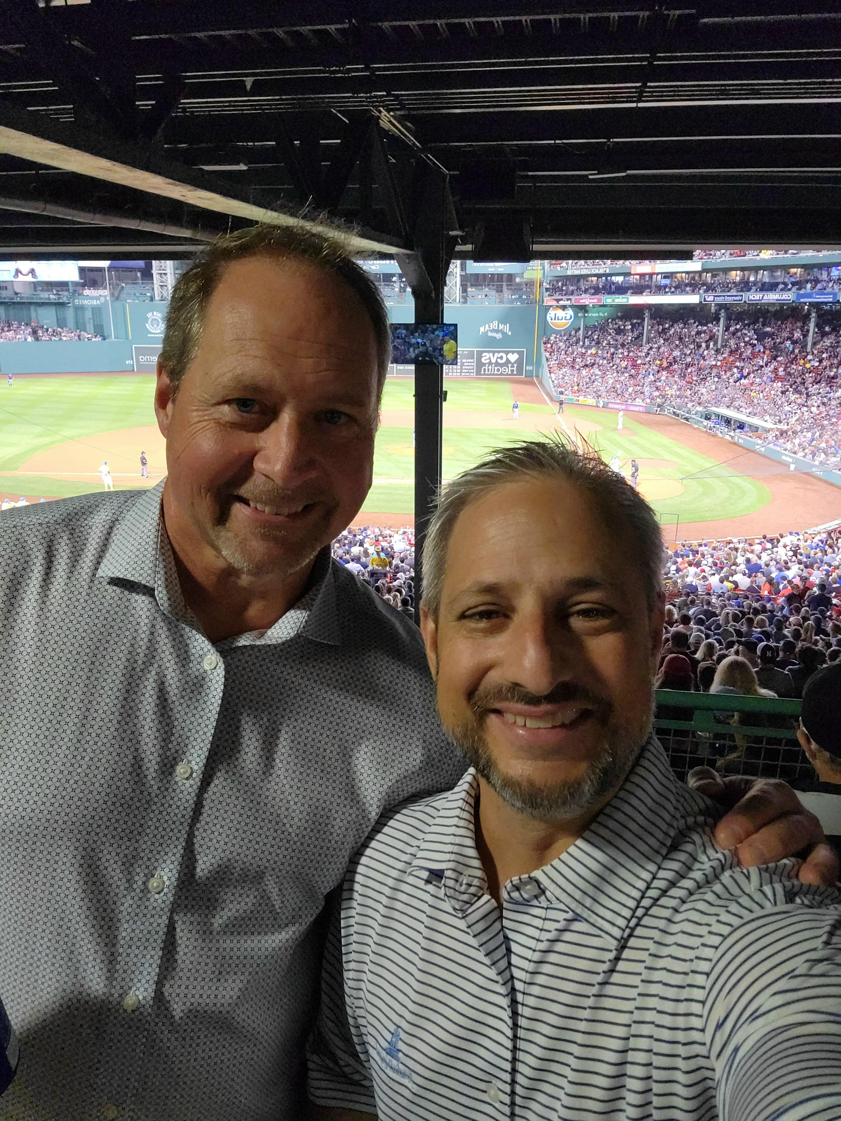 Dave and I at Fenway